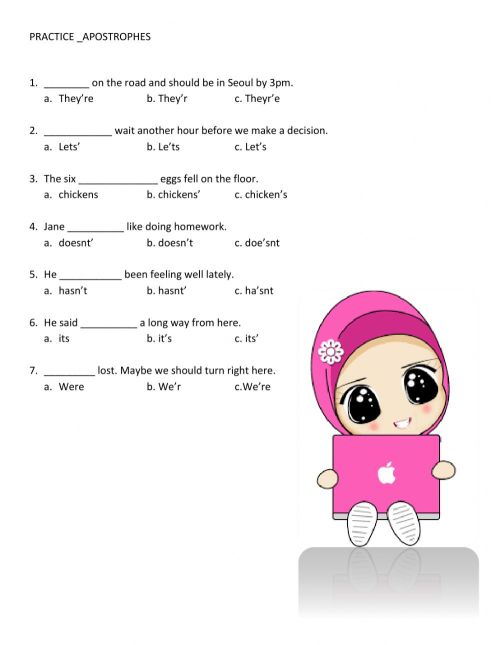 small resolution of Apostrophes worksheet