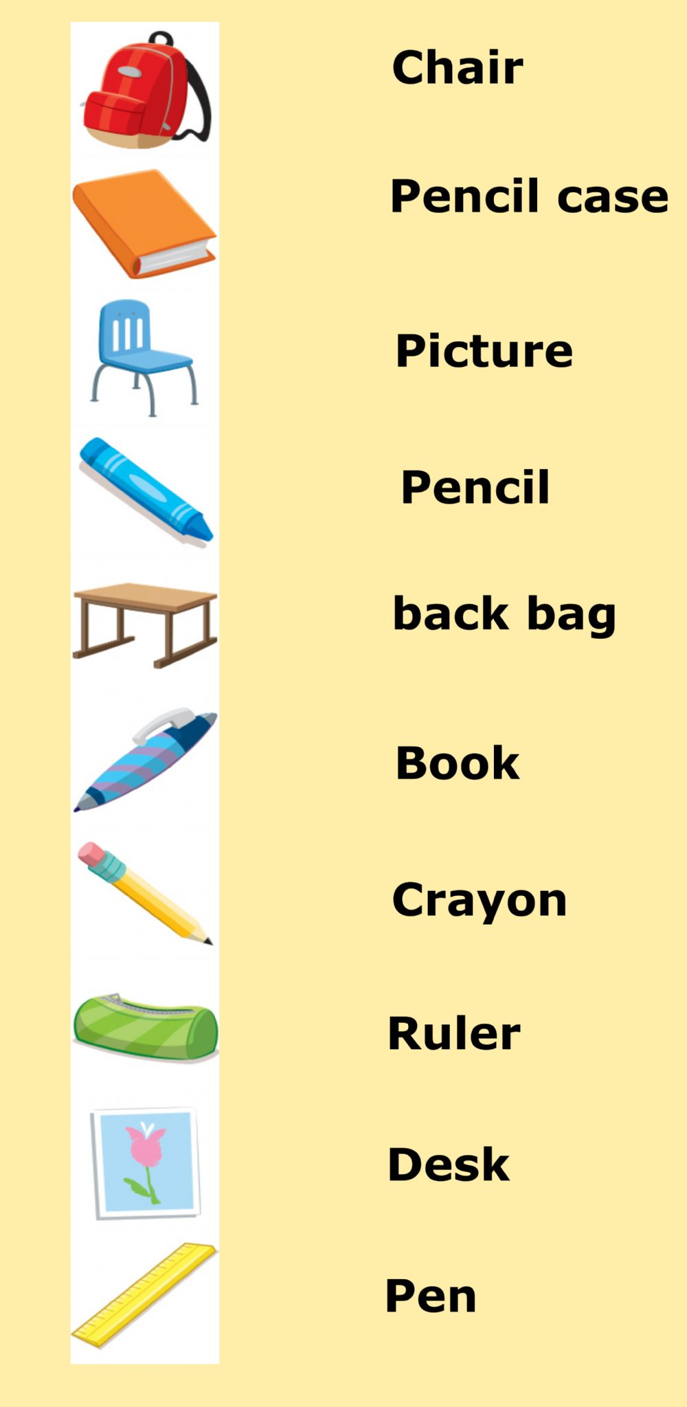 hight resolution of 1st Grade: Vocabulary - Class Objects worksheet