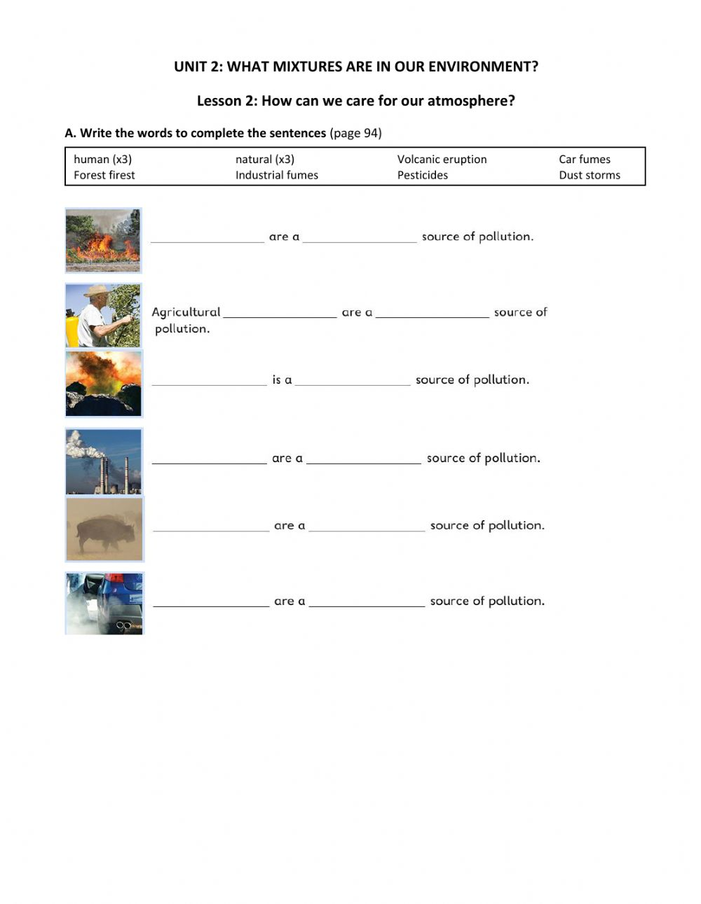 medium resolution of Science:How can we care for our environment? worksheet