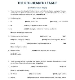 The Red-Headed League worksheet [ 1291 x 1000 Pixel ]