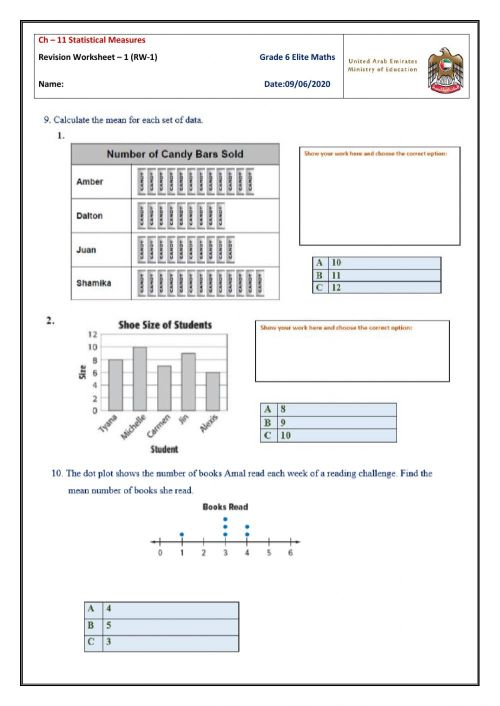 small resolution of Revision worksheet on Ch-11 Gr-6 worksheet