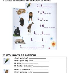 Animals body parts online exercise for second grade / third grade / kids 2  / beginners [ 1411 x 1000 Pixel ]