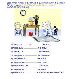 Prepositions of place online exercise for 2nd [ 1414 x 1000 Pixel ]