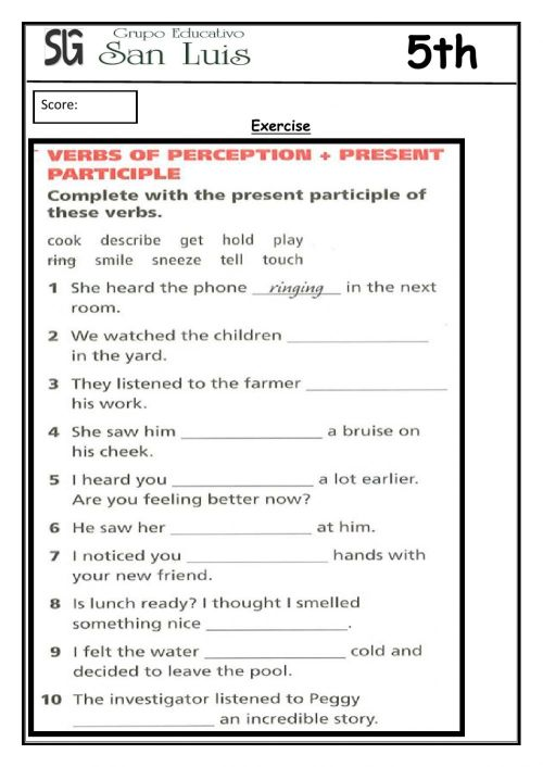 small resolution of Worksheet-Participle Adjective worksheet