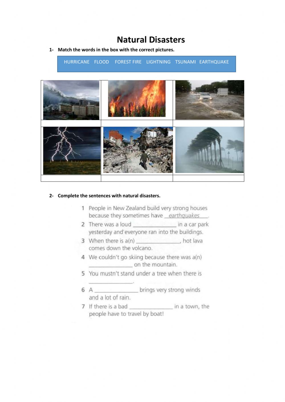 medium resolution of Natural Disasters zsciencez exercise