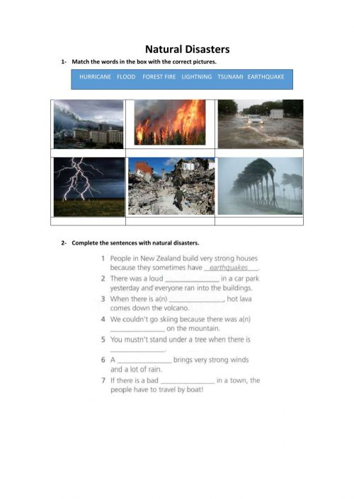 small resolution of Natural Disasters zsciencez exercise