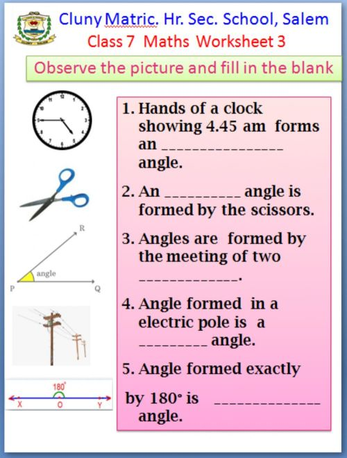 small resolution of Class 7 Maths worksheet