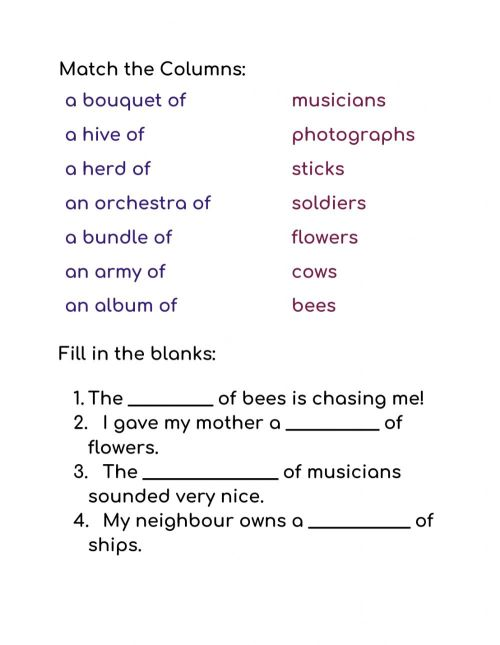 small resolution of Collective Nouns interactive activity
