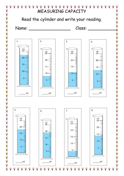 small resolution of Measuring Capacity- Littres worksheet