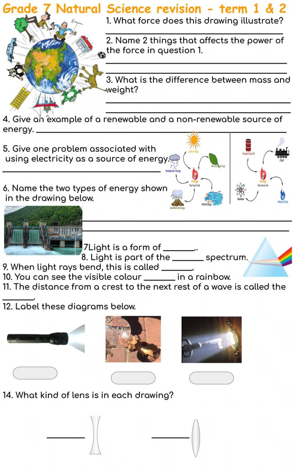 medium resolution of Grade 7 Revision term 1 \u0026 2 interactive worksheet