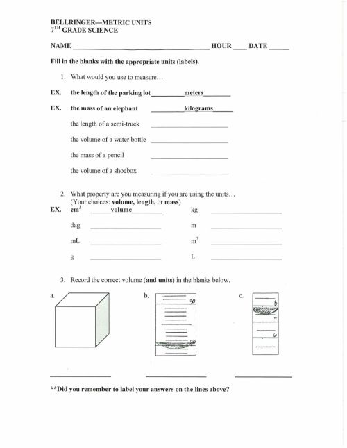 small resolution of BRMetricUnits7 worksheet