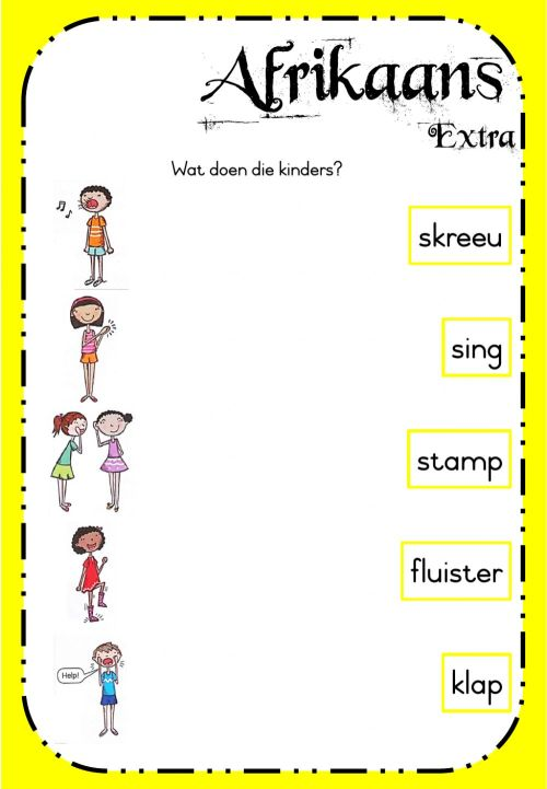 small resolution of Week 21 - Afrikaans - Monday Extra worksheet