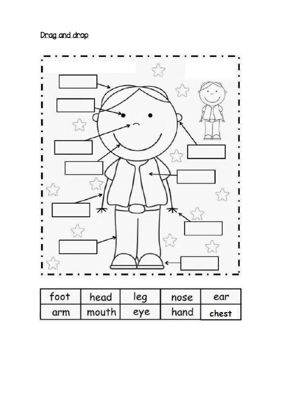 hight resolution of Body Parts online exercise for 1 st grade