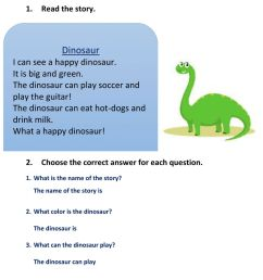 30+ Reading Comprehension Grade 4 Dinosaurs Pics · Worksheet Free For You [ 1291 x 1000 Pixel ]