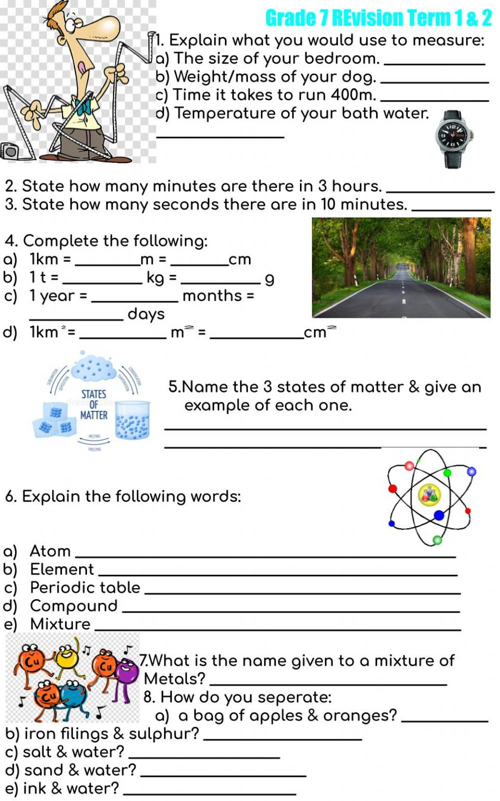 hight resolution of Revision term 1 \u0026 2 interactive worksheet