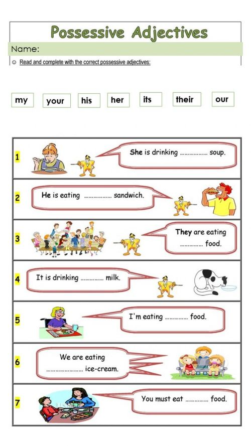 small resolution of Possessives interactive activity for 1st Grade
