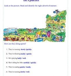 Adverbs of Manner interactive worksheet for Grade 4th [ 1413 x 1000 Pixel ]
