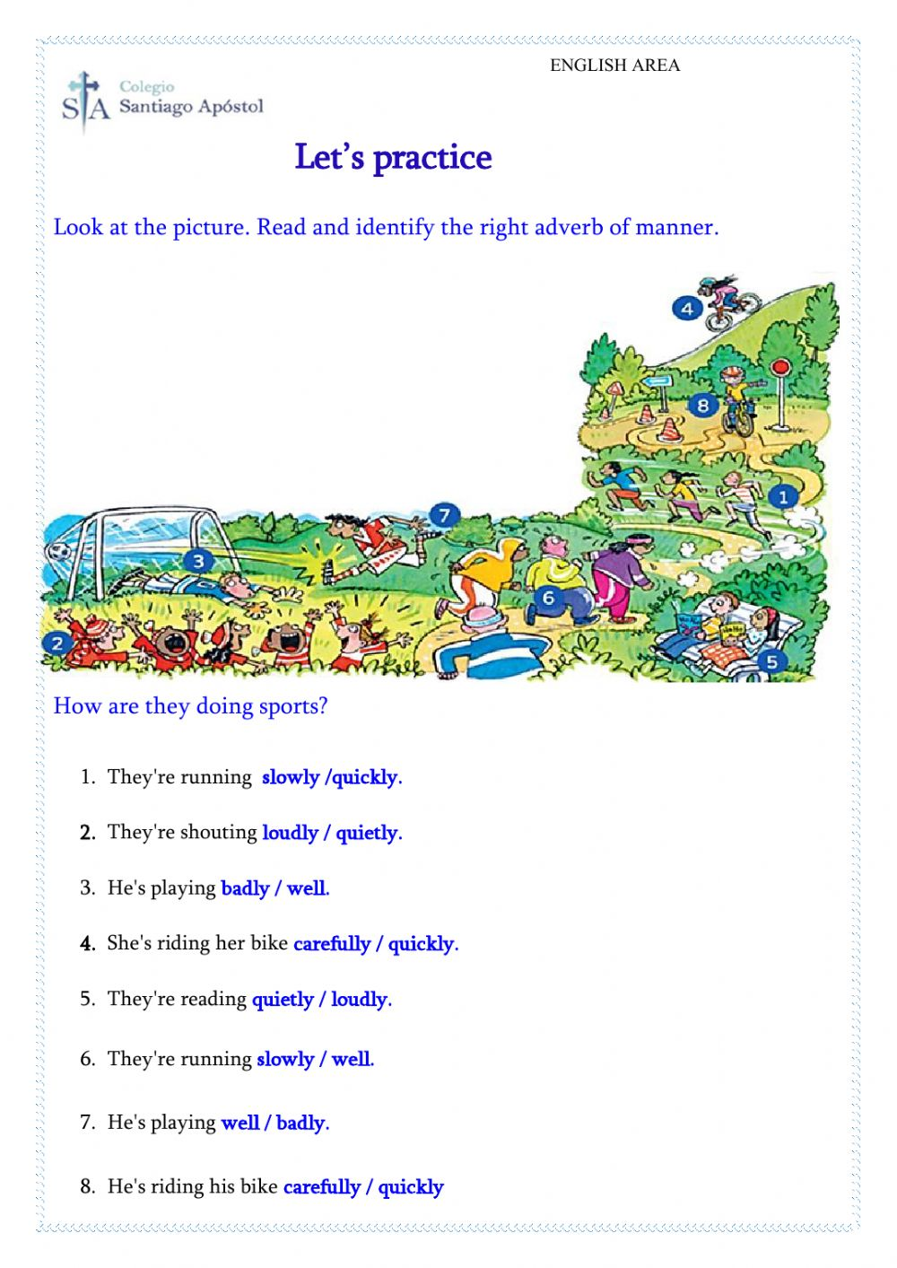 hight resolution of Adverbs of Manner interactive worksheet for Grade 4th