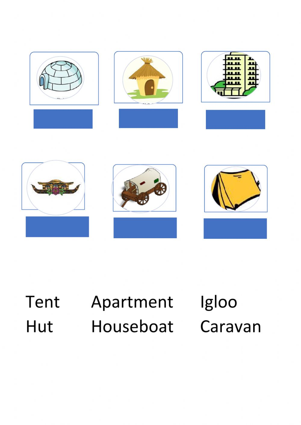 hight resolution of Types of Houses online activity