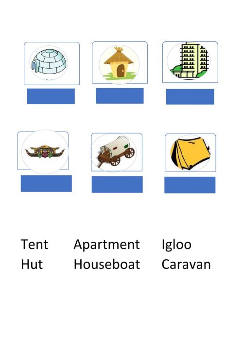 small resolution of Types of Houses online activity