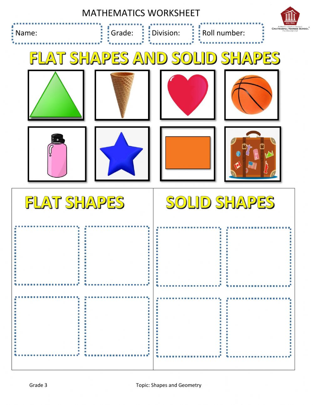 hight resolution of Shapes and Geometry worksheet