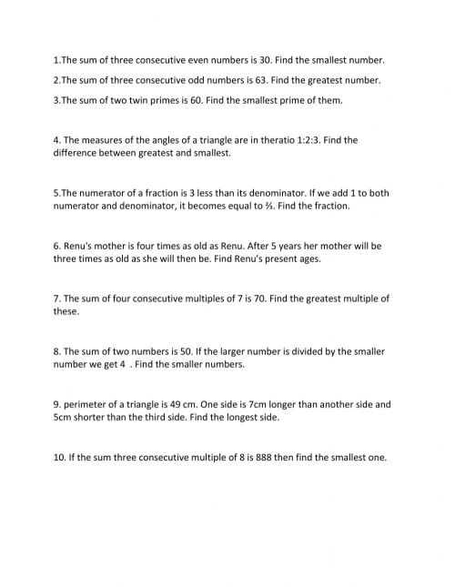 small resolution of Linear equation worksheet