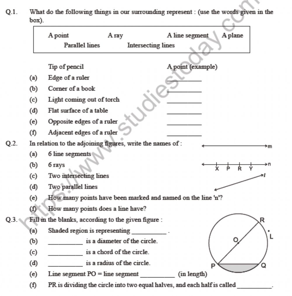 hight resolution of Basic concept in Geometry worksheet