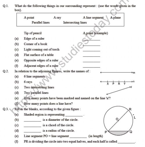 small resolution of Basic concept in Geometry worksheet