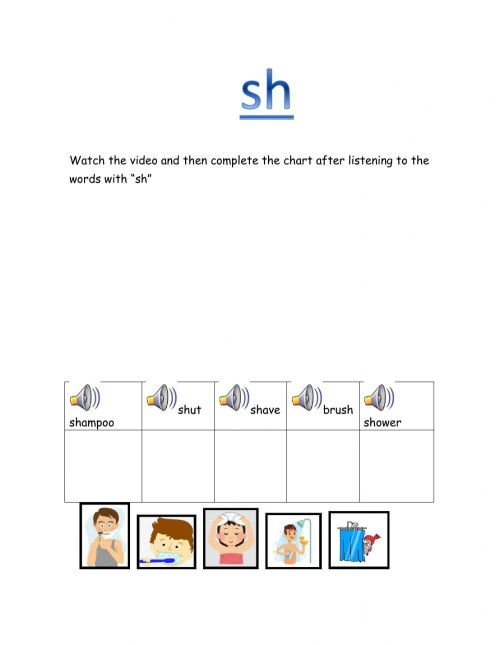 small resolution of Digraph -sh- worksheet