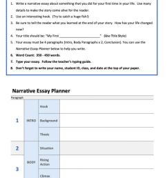 Planning a narrative essay worksheet [ 1295 x 1000 Pixel ]
