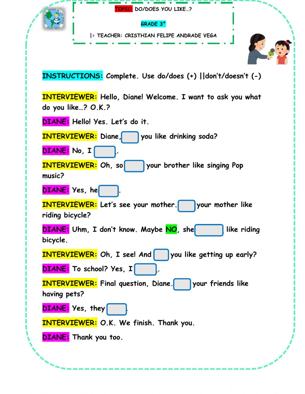 medium resolution of Auxiliary Verbs: DO-DOES worksheet
