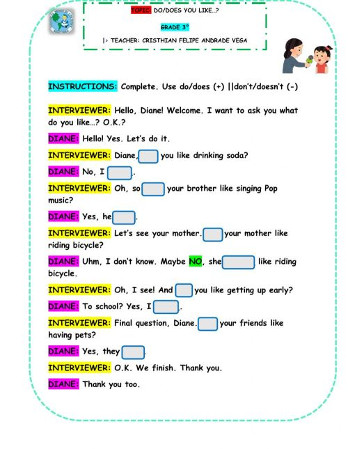 small resolution of Auxiliary Verbs: DO-DOES worksheet