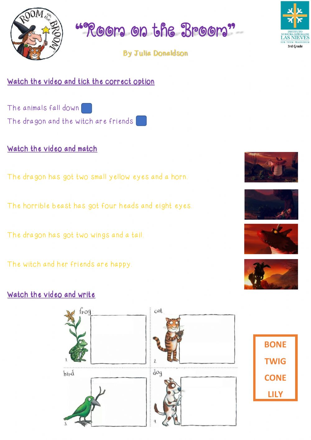 hight resolution of Room on the Broom -Second Part- worksheet