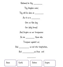 Our father interactive worksheet [ 1413 x 1000 Pixel ]