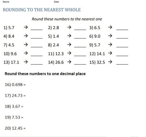 small resolution of Rounding decimals worksheet