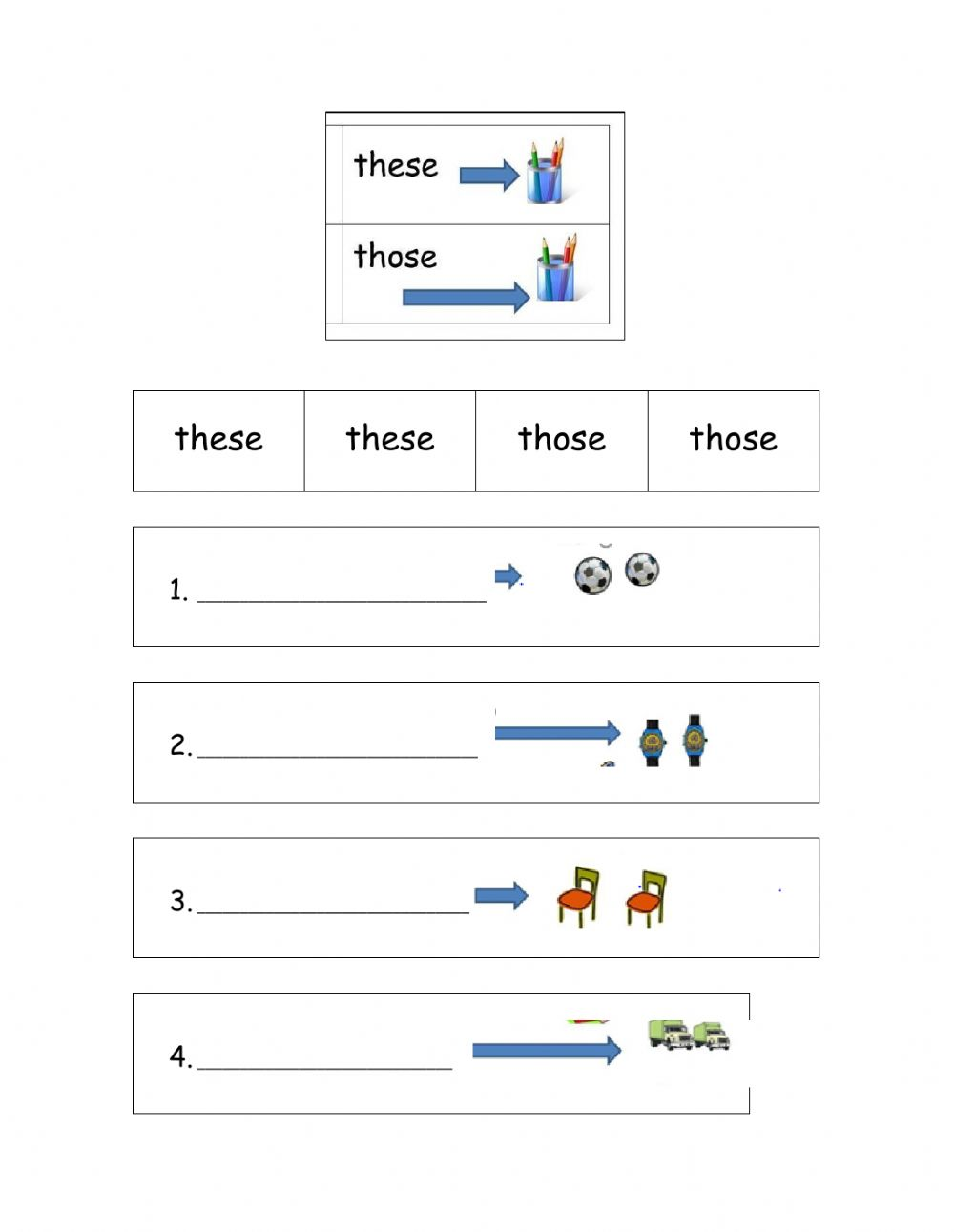 hight resolution of Demonstratives interactive exercise for first