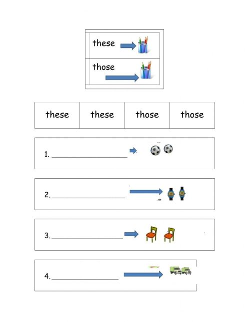 small resolution of Demonstratives interactive exercise for first