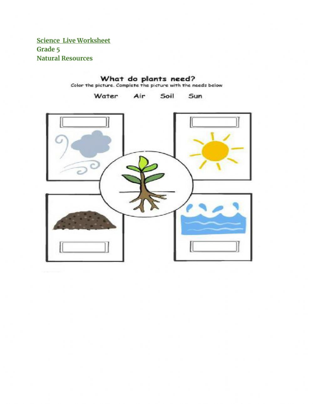 hight resolution of Natural resources online activity