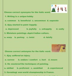 Synonyms and Antonyms online worksheet [ 1291 x 1000 Pixel ]