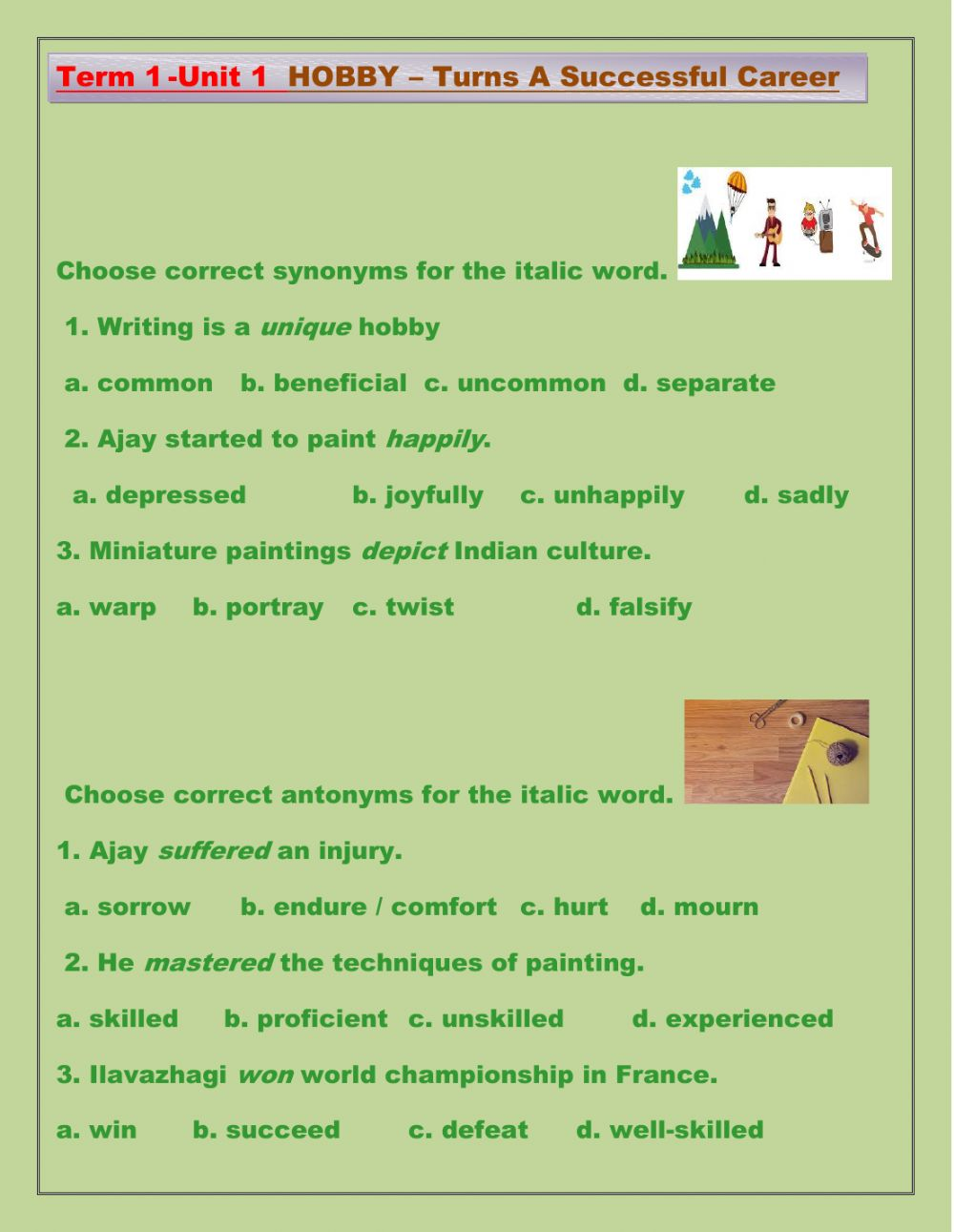 hight resolution of Synonyms and Antonyms online worksheet