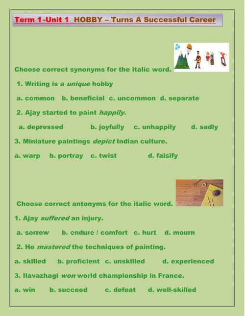 small resolution of Synonyms and Antonyms online worksheet