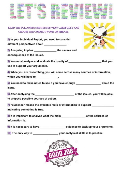 small resolution of Global Perspectives - Information Skills: Analysis worksheet