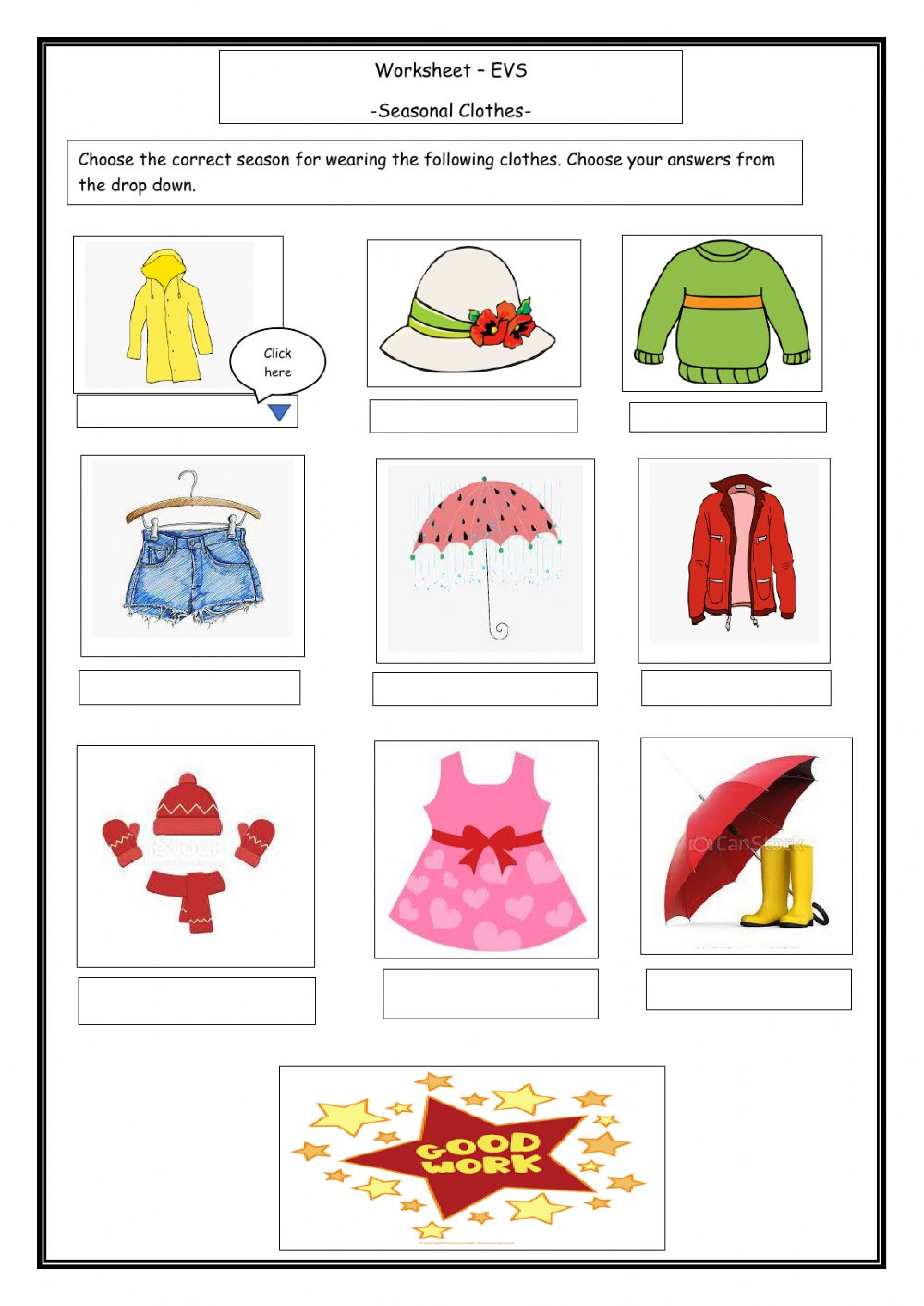 hight resolution of Clothes We wear interactive worksheet