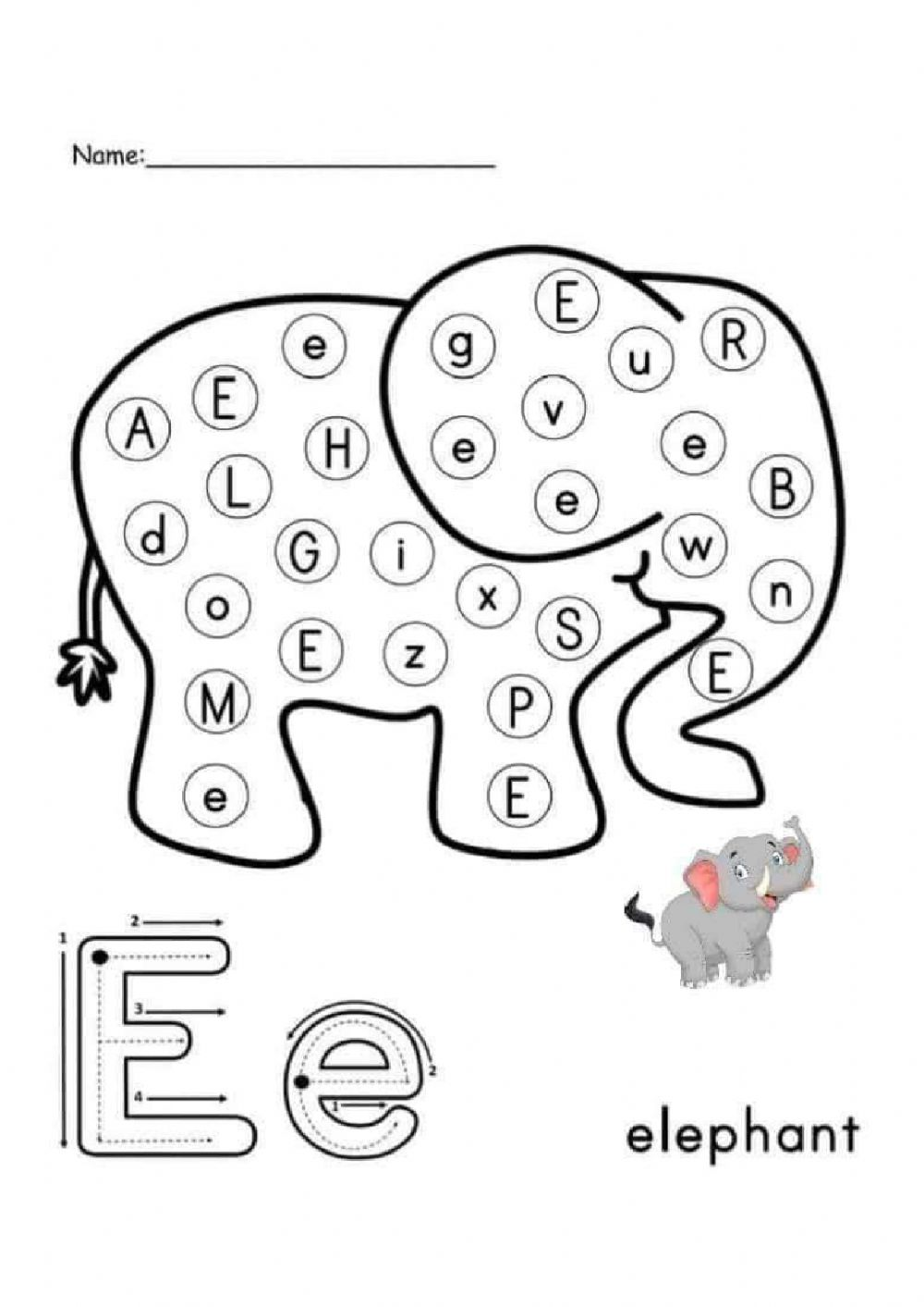 Find the letter interactive worksheet