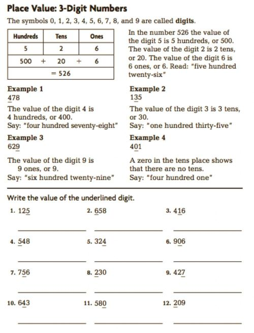 small resolution of Grade 3 Place Value to hundreds worksheet