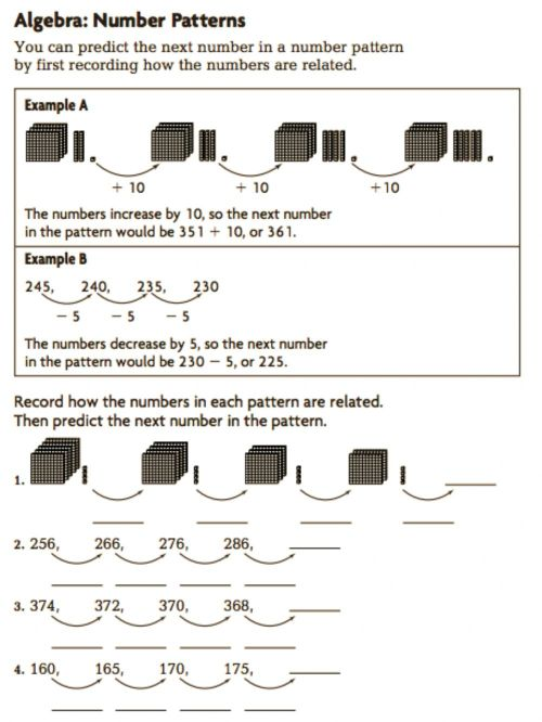 small resolution of Grade 3 Number Pattern worksheet