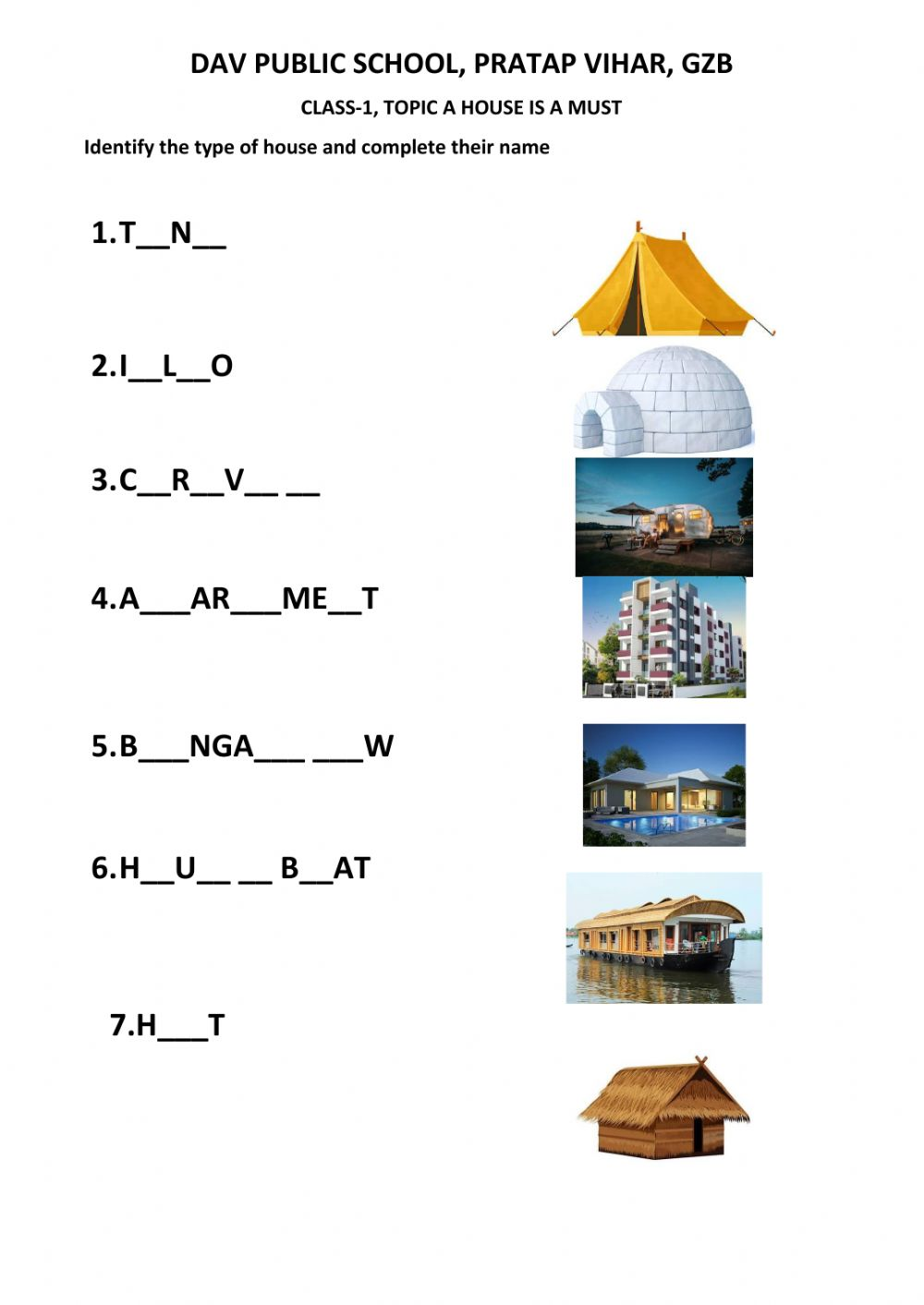 hight resolution of A house is a must activity