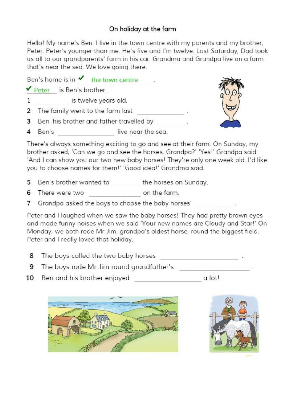 hight resolution of Reading online exercise for 3rd grade