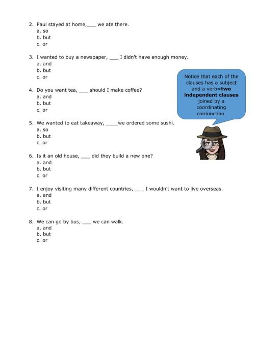small resolution of Compound sentences interactive worksheet