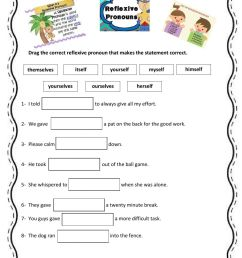 Reflexive Pronouns zsciencez worksheet [ 1291 x 1000 Pixel ]